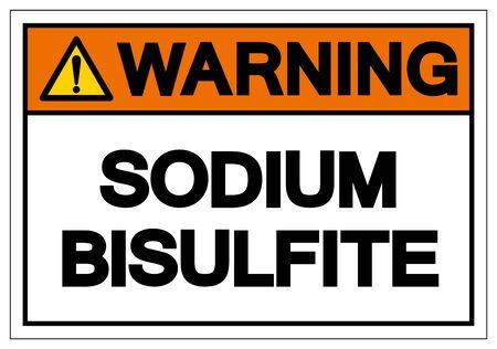 Warning Sodium Bisulfite Symbol Sign, Vector Illustration, Isolate On White Background Label. EPS10 Çizim