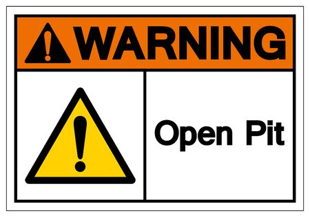 Warning Open Pit Symbol Sign, Vector Illustration, Isolate On White Background Label. EPS10