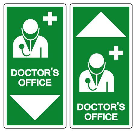 DoctorOffice Symbol Sign, Vector Illustration, Isolate On White Background Label. EPS10