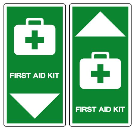 First Aid Kit Symbol Sign, Vector Illustration, Isolate On White Background Label. EPS10
