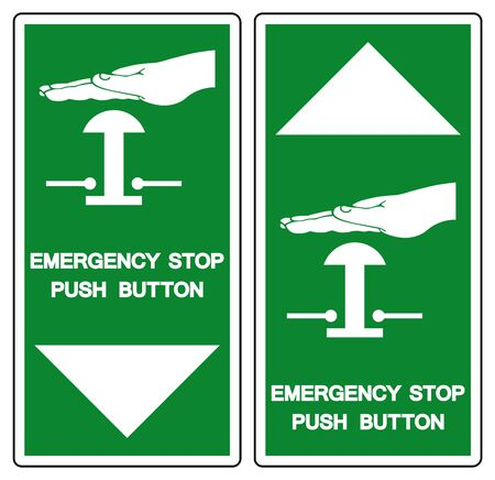 Emergency Stop Push Button Symbol Sign, Vector Illustration, Isolate On White Background Label .EPS10