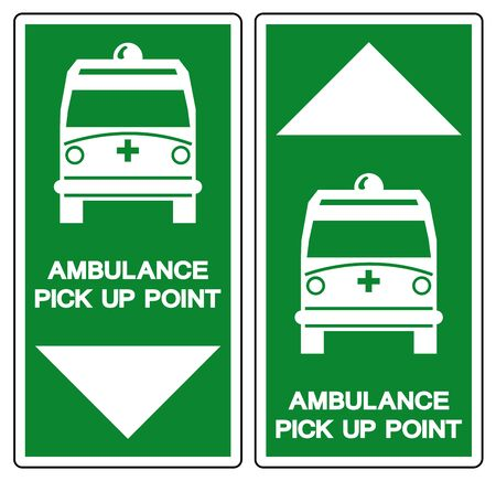 Ambulance Pick Up Point Symbol Sign,Vector Illustration, Isolate On White Background, Label ,Icon. EPS10 Banque d'images - 130770937