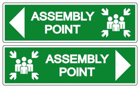 Assembly Point Symbol Sign, Vector Illustration, Isolated On White Background Label .EPS10