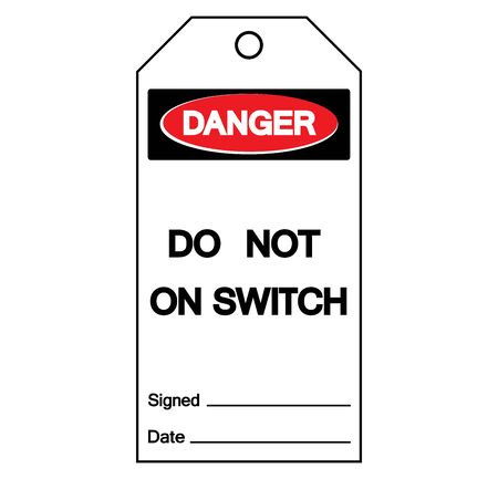 Danger Do Not On Switch Symbol Sign, Vector Illustration, Isolate On White Background Label. EPS10 Ilustrace