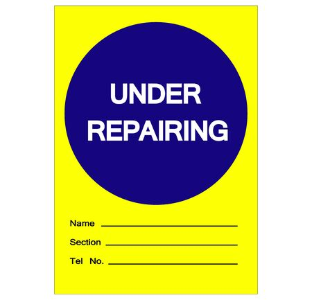 Under Repairing Label Tag Symbol Sign,Vector Illustration, Isolate On White Background  Label. EPS10
