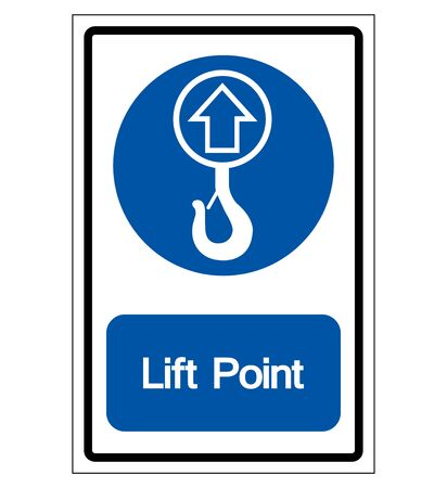 Lift Point Symbol Sign,Vector Illustration, Isolated On White Background Label. EPS10