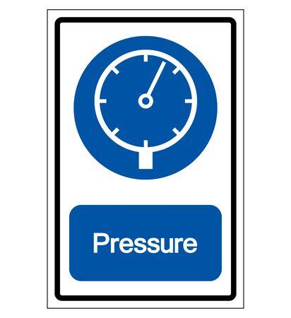 Pressure Symbol Sign,Vector Illustration, Isolated On White Background Label. EPS10