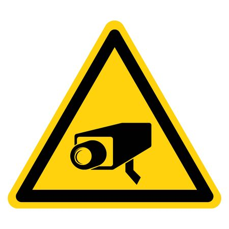 Warning CCTV Symbol Sign, Vector Illustration, Isolate On White Background Label .EPS10 Ilustração