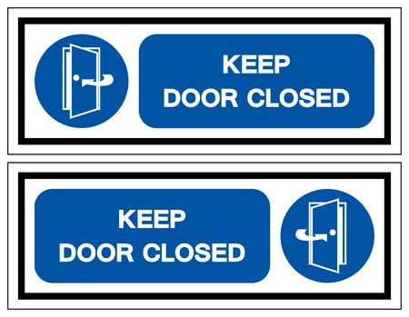 Keep Door Closed Symbol Sign, Vector Illustration, Isolate On White Background Label .EPS10 矢量图像