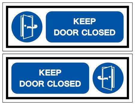 Keep Door Closed Symbol Sign, Vector Illustration, Isolate On White Background Label .EPS10 Illustration