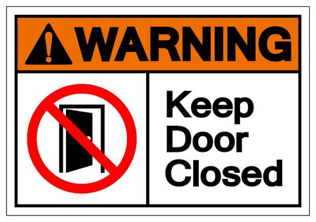 Warning Keep Door Closed Symbol Sign ,Vector Illustration, Isolate On White Background Label .EPS10