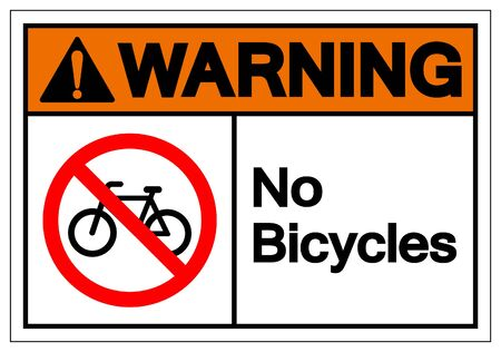 Warning No Bicycles Symbol Sign ,Vector Illustration, Isolate On White Background Label. EPS10