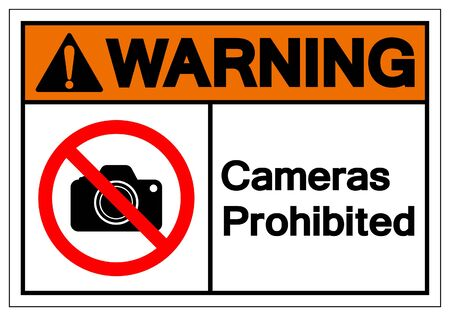 Warning Cameras Prohibited Symbol Sign, Vector Illustration, Isolated On White Background Label .EPS10 Ilustrace