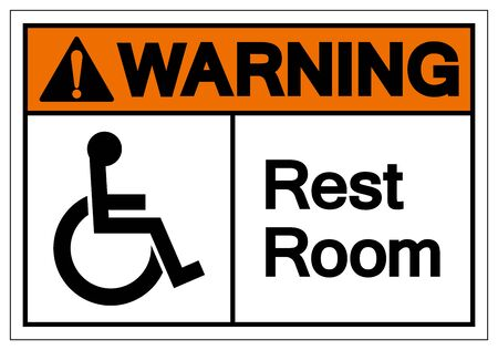Warning Rest Room Symbol Sign, Vector Illustration, Isolated On White Background Label .EPS10