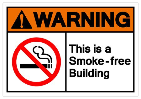 Warning This Is a Smoke - Free Building Symbol Sign, Vector Illustration, Isolated On White Background Label .EPS10 Ilustrace