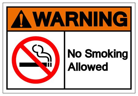 Warning No Smoking Allowed Symbol Sign ,Vector Illustration, Isolate On White Background Label. EPS10 Ilustrace