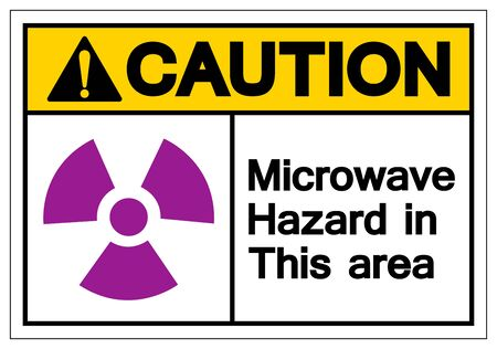 Caution Microwave Hazard In This Area Symbol Sign ,Vector Illustration, Isolate On White Background Label .EPS10 Ilustrace