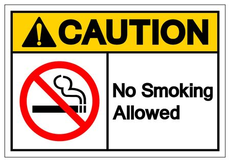 Caution No Smoking Allowed Symbol Sign ,Vector Illustration, Isolate On White Background Label. EPS10 Ilustrace