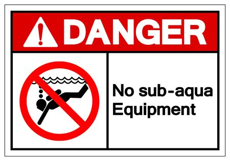 Danger No Sub-aqua Equipment Symbol Sign, Vector Illustration, Isolated On White Background Label .EPS10