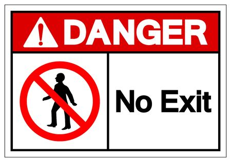 Danger No Exit Symbol Sign ,Vector Illustration, Isolate On White Background Label. EPS10