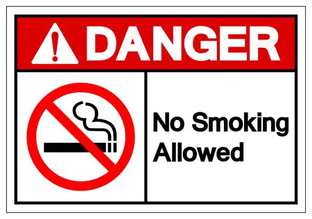 Danger No Smoking Allowed Symbol Sign ,Vector Illustration, Isolate On White Background Label. EPS10 Ilustrace