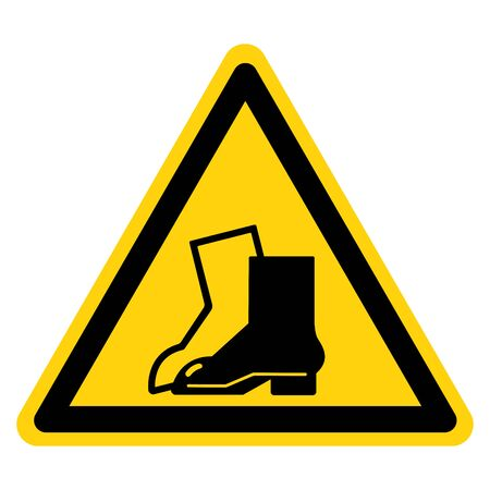 Warning Wear Foot Protection Symbol Sign,Vector Illustration, Isolated On White Background Label. EPS10 Illustration