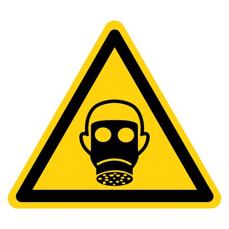 Warning Wear Respiratory Protection Symbol Sign,Vector Illustration, Isolated On White Background Label. EPS10