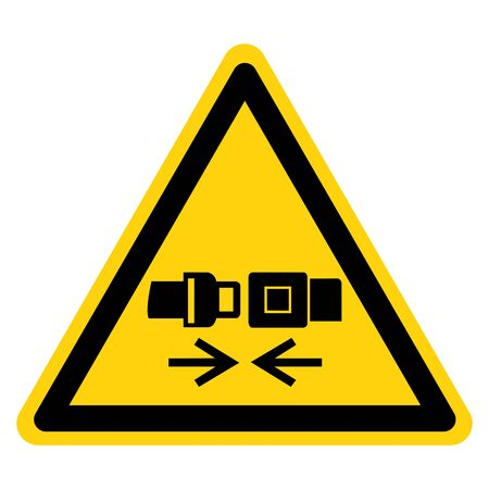 Warning Wear Safety Belt Symbol Sign,Vector Illustration, Isolated On White Background Label. EPS10