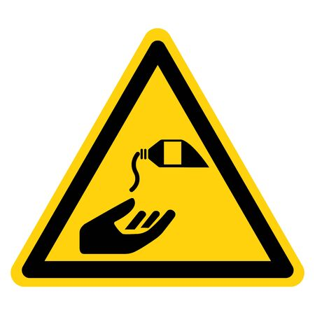 Warning Use Barrier Cream Symbol Sign,Vector Illustration, Isolated On White Background Label. EPS10