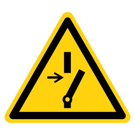 Warning Disconnect Before Carrying Out Maintenance Or Repair Symbol Sign ,Vector Illustration, Isolate On White Background Label .EPS10 Illustration