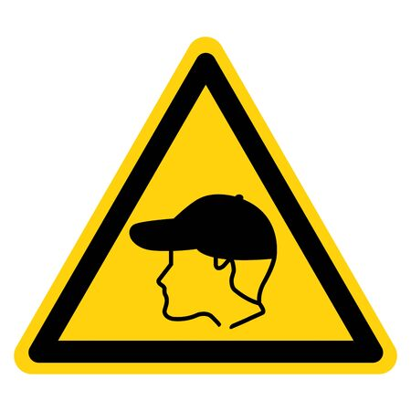 Warning Wear Cap Symbol Sign, Vector Illustration, Isolate On White Background Label .EPS10