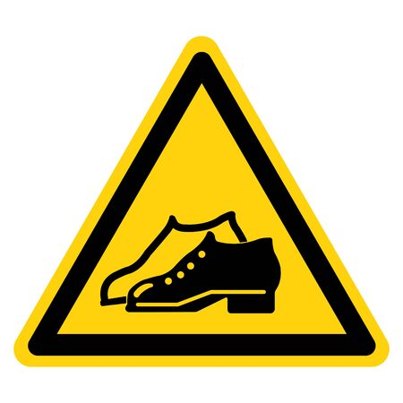 Warning Enclosed Shoes Are Required In The Manufacturing Area Symbol Sign ,Vector Illustration, Isolate On White Background Label .EPS10 Illustration