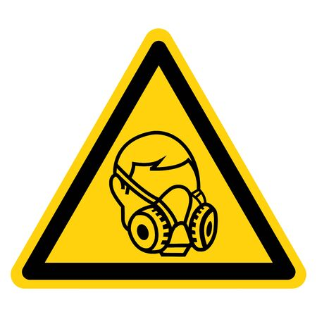 Warning Wear Respirator Symbol Sign,Vector Illustration, Isolated On White Background Label. EPS10 Illustration