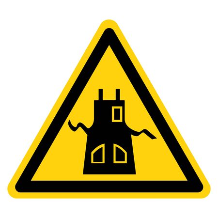 Warning Wear Apron Symbol Sign, Vector Illustration, Isolate On White Background Label .EPS10 Illustration