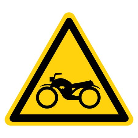 Warning Motorcycle Parking Symbol Sign, Vector Illustration, Isolate On White Background Label .EPS10 Banque d'images - 130987499