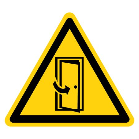 Warning Keep Door Closed Symbol Sign, Vector Illustration, Isolate On White Background Label .EPS10  イラスト・ベクター素材