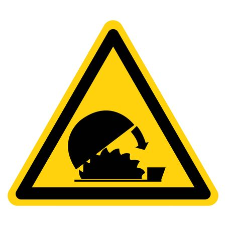Warning Use Adjustable Guards Protection Symbol Sign,Vector Illustration, Isolate On White Background Label .EPS10
