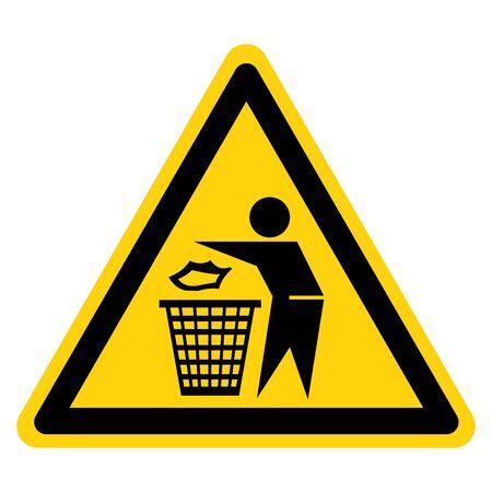 Warning Do Not Litter Symbol Sign, Vector Illustration, Isolate On White Background Label .EPS10 向量圖像