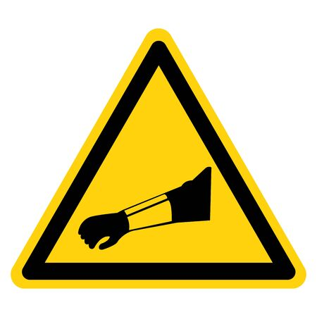 Warning Wear Arm Protection Symbol Sign ,Vector Illustration, Isolate On White Background Label. EPS10 Illustration