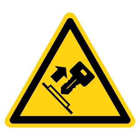 Warning Pull Key Symbol Sign, Vector Illustration, Isolate On White Background Label. EPS10