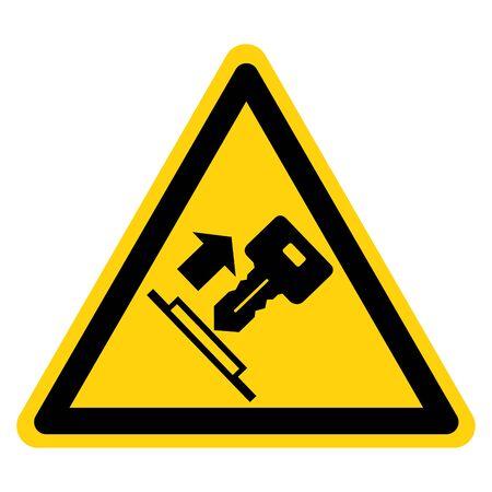 Warning Pull Key Symbol Sign, Vector Illustration, Isolate On White Background Label. EPS10