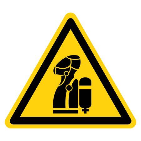 Warning Wear SCBA Symbol Sign, Vector Illustration, Isolate On White Background Label .EPS10