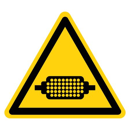 Warning Flame Arrester Must Be Worn Symbol Sign, Vector Illustration, Isolate On White Background Label. EPS10 Illustration