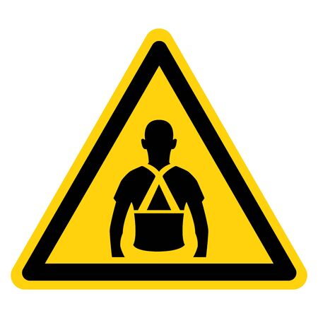 Warning Wear Back Support Symbol Sign, Vector Illustration, Isolated On White Background Icon. EPS10