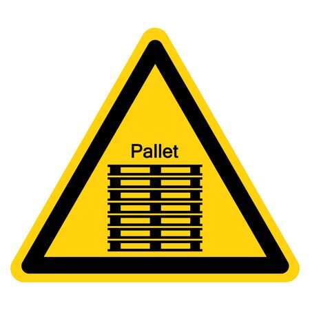 Warning Stack Corretly Symbol Sign, Vector Illustration, Isolate On White Background Label. EPS10