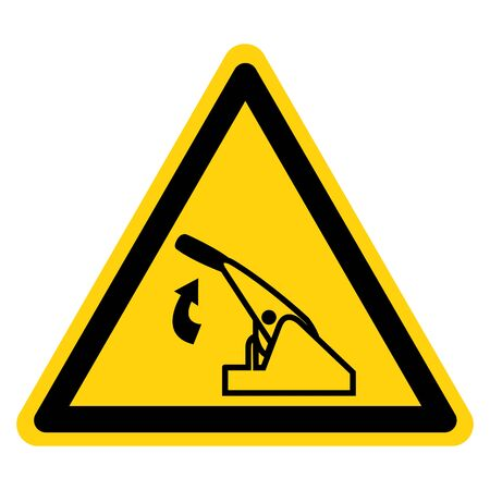 Warning Pull Parking Brake Symbol Sign, Vector Illustration, Isolate On White Background Label. EPS10