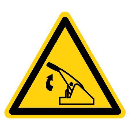Warning Pull Parking Brake Symbol Sign, Vector Illustration, Isolate On White Background Label. EPS10