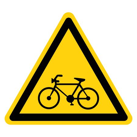 Warning Bicycle Parking Symbol Sign, Vector Illustration, Isolate On White Background Label .EPS10