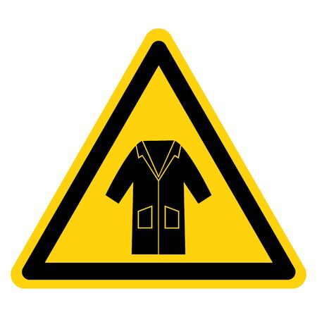 Warning Wear Smock Symbol Sign, Vector Illustration, Isolate On White Background Label. EPS10 Illustration