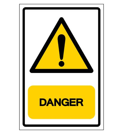 Danger Symbol Sign,Vector Illustration, Isolated On White Background Label. EPS10 Illustration